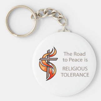 The Road To Peace Is Religious Tolerance Keychain