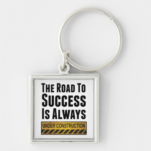The road to success keychains