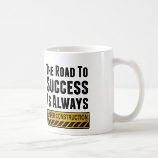 The road to success classic white coffee mug