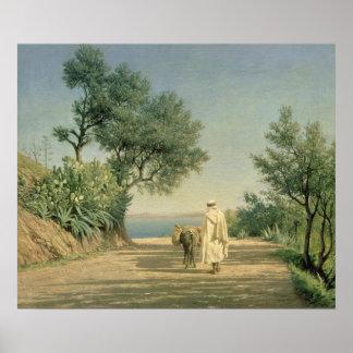The Road to the Sea, Algeria, 1883 Poster