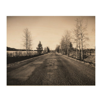 The Road Wood Canvas