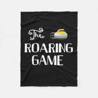 The Roaring Game, Curling Custom Fleece Blanket