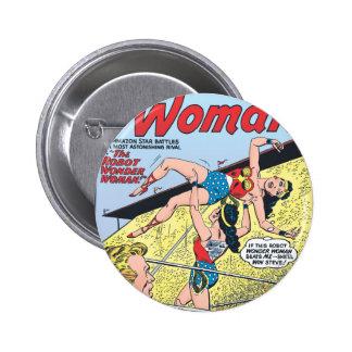 The Robot Wonder Woman 6 Cm Round Badge