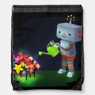 The Robot's Garden Drawstring Bag
