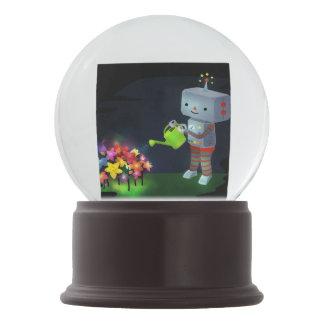 The Robot's Garden Snow Globe