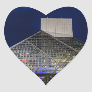 The Rock and Roll Hall of Fame at Dusk Heart Sticker