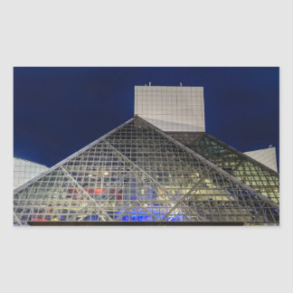 The Rock and Roll Hall of Fame at Dusk Rectangular Sticker