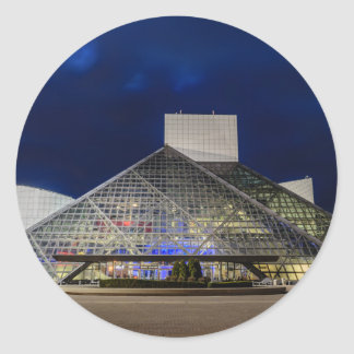 The Rock and Roll Hall of Fame at Dusk Round Sticker
