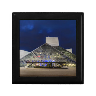 The Rock and Roll Hall of Fame at Dusk Small Square Gift Box