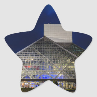 The Rock and Roll Hall of Fame at Dusk Star Sticker