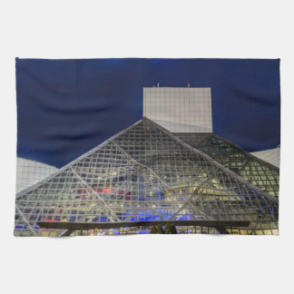 The Rock and Roll Hall of Fame at Dusk Towel