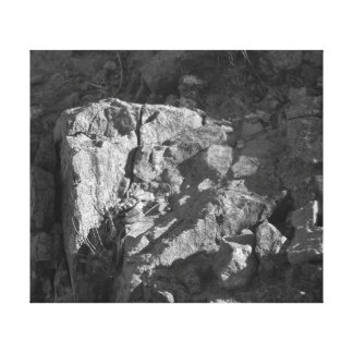 The Rock Black White Gallery Wrap Canvas