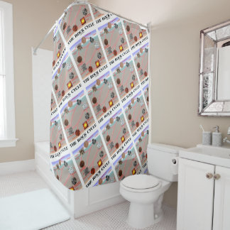 The Rock Cycle Geology Earth Science Shower Curtain