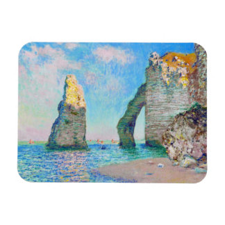 The Rock Needle and the Porte d'Aval Claude Monet Magnet