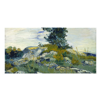 The Rocks by Vincent Van Gogh Customized Photo Card