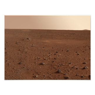 The rocky surface of Mars Art Photo