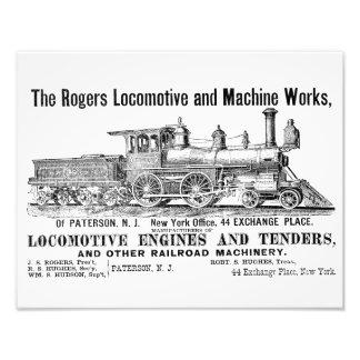 The Rogers Locomotive Works, Paterson,N.J Kodak Art Photo