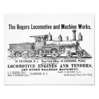 The Rogers Locomotive Works, Paterson,N.J Kodak Photo Art
