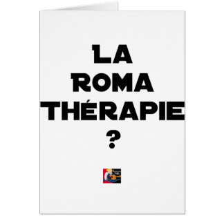 THE ROMA THERAPY? - Word games - François City Card