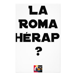 THE ROMA THERAPY? - Word games - François City Stationery