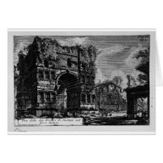 The Roman antiquities, t. 1, Plate XXI. Arch of... Card