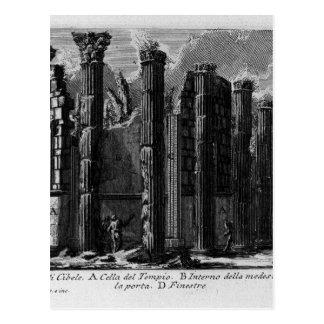 The Roman antiquities, t. 1, Plate XXII. Temple... Postcard