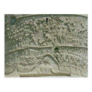 The Roman army crossing the Danube Postcard