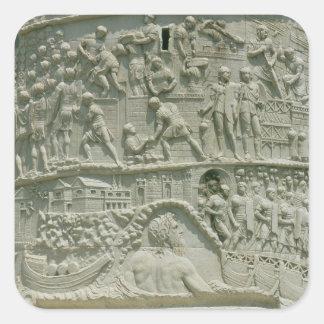 The Roman army crossing the Danube Square Sticker