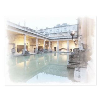 The Roman Baths, Bath Postcard