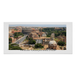 The Roman Colosseum Panorama Poster