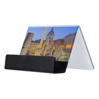 The Roman Forum in Rome Desk Business Card Holder