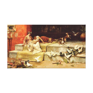 The Roman Maidens by Juan Luna. Canvas Print