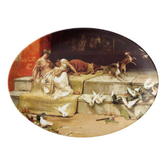 The Roman Maidens by Juan Luna. Porcelain Serving Platter