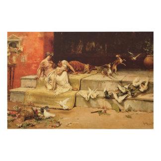 The Roman Maidens by Juan Luna. Wood Wall Art