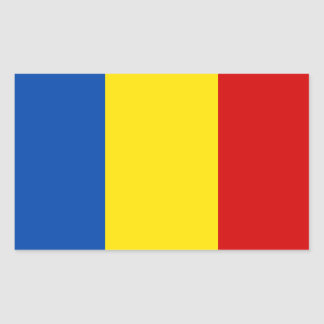 The Romanian Flag Rectangular Sticker