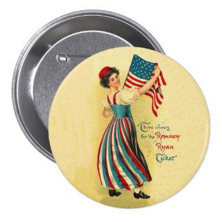 The Romney Ryan Ticket 7.5 Cm Round Badge