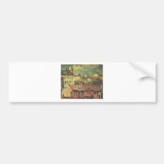 The roofs by Paul Cezanne Bumper Sticker