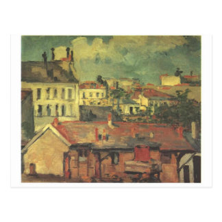 The roofs by Paul Cezanne Postcard