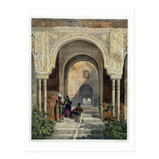 The Room of the Two Sisters in the Alhambra, Grana Postcard