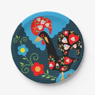 The Rooster of Portugal Paper Plate