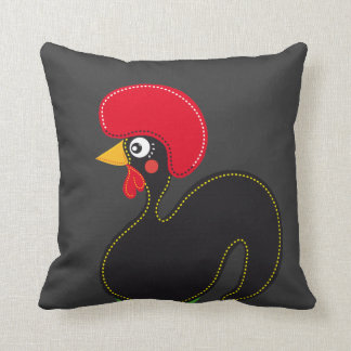 the Rooster of Portugal Throw Pillow