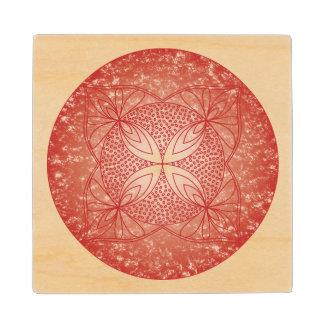 The Root Chakra Wood Coaster