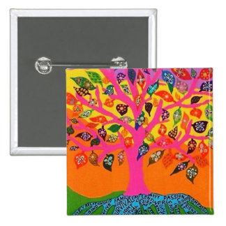 The Root Of Knowledge - Tree Of Life 15 Cm Square Badge