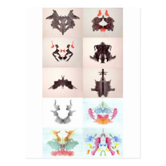 The Rorschach Test Ink Blots All 10 Plates 1-10 Postcard