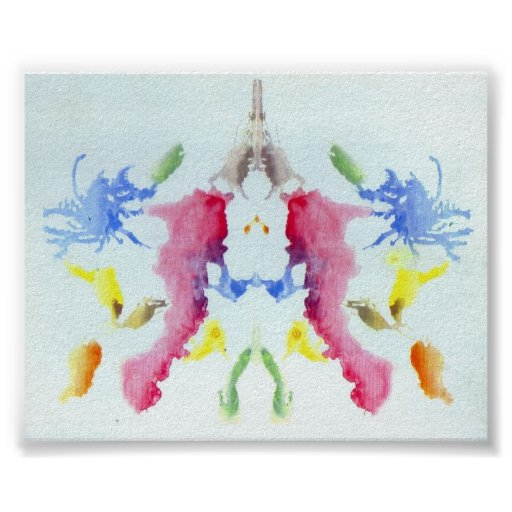 The Rorschach Test Ink Blots Plate 10 Posters
