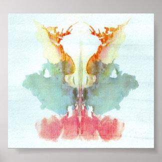 The Rorschach Test Ink Blots Plate 9 Print