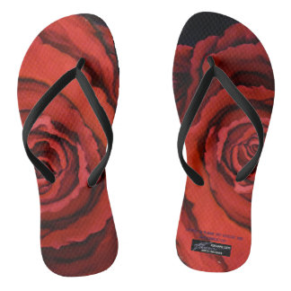 """The Rose"" flip flop by Rosanne Coty"