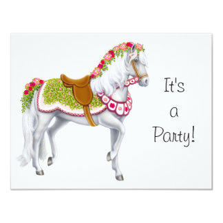 The Rose Horse Invitation