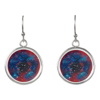 The Rosette Nebula drop earrings