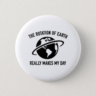 The Rotation Of The Earth 6 Cm Round Badge